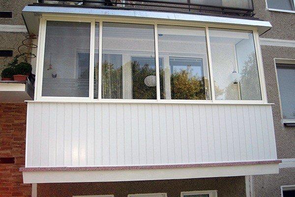 Остекление балкона, окна с алюминиевым профилем Проведал