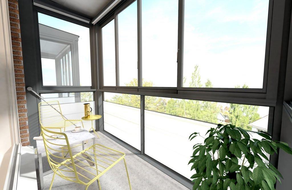 Французское остекление балкона в мегаполисе под ключ