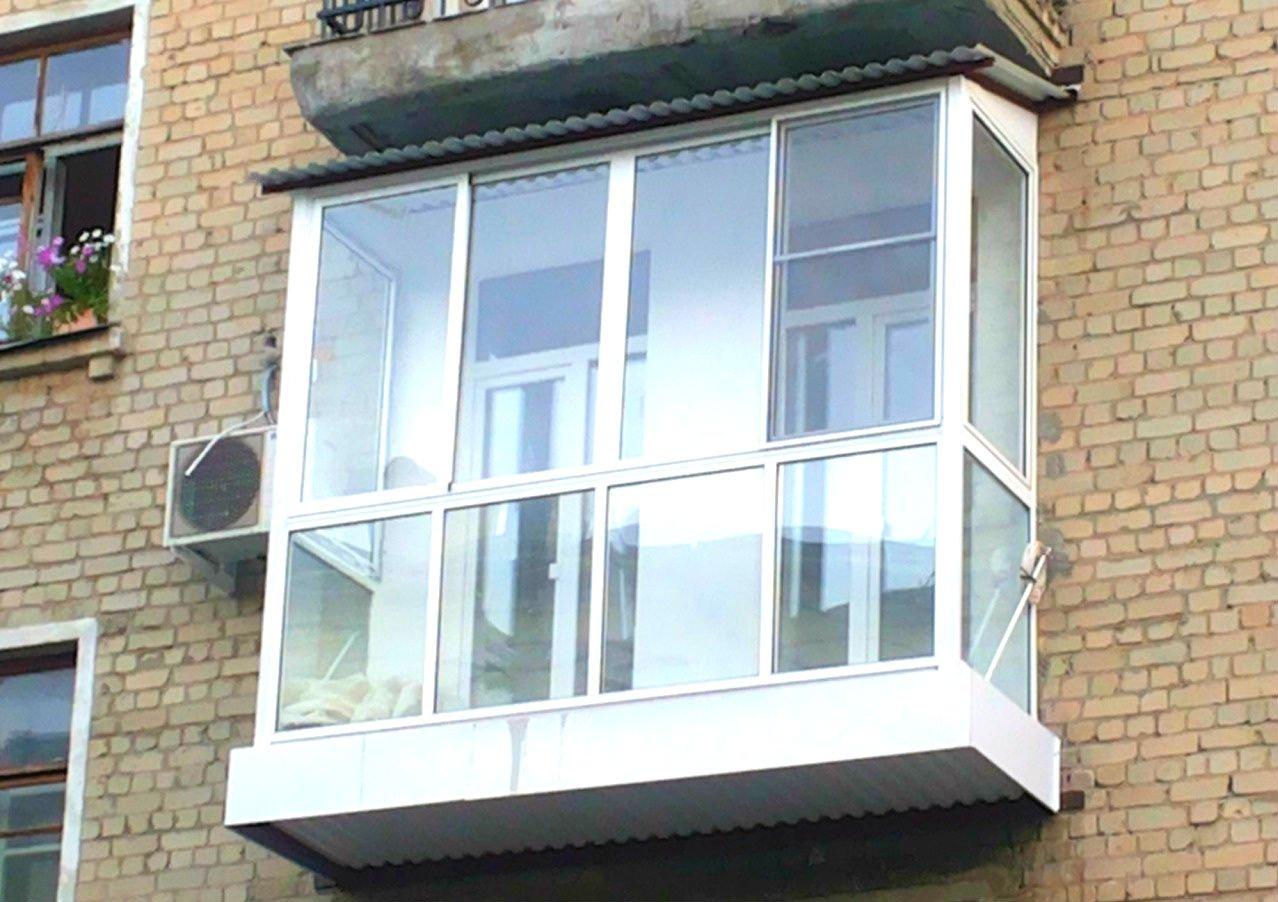 Остекление балкона в хрущевке панорамное остекление, белый балкон