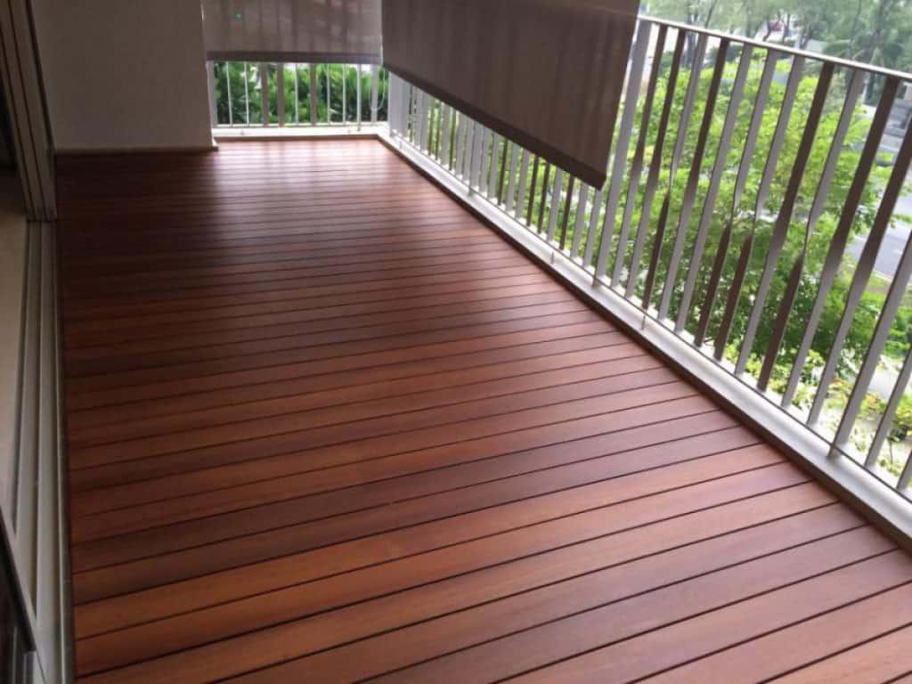 настил пола на балкон дешево и красиво