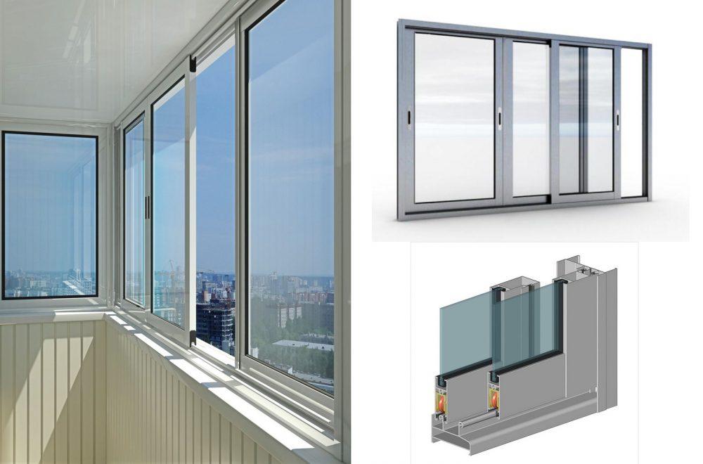 Раздвижное остекление балкона на 25 этаже